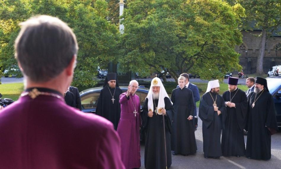 Патриаршая встреча с архиепископом Кентербери
