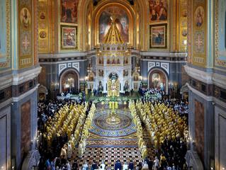 Поздравительный адрес членов Священного Синода Русской Православной Церкви Святейшему Патриарху Кири