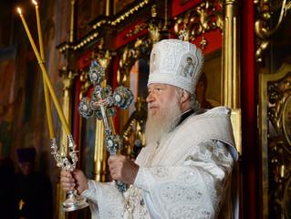 В праздник Преображения Предстоятель Русской Церкви совершил Литургию в кафедральном соборе Мурманск