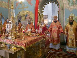 В день своего тезоименитства митрополит Пантелеимон возглавил Литургию на правобережье краевой столи