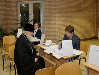 Предстоятель Русской Церкви принял участие в голосовании на выборах депутатов в Государственную Думу
