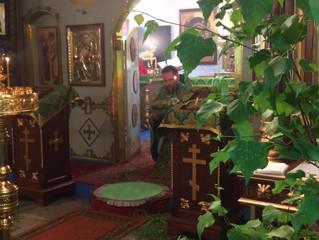 Праздничные богослужения в Бархатово в день Святой Троицы