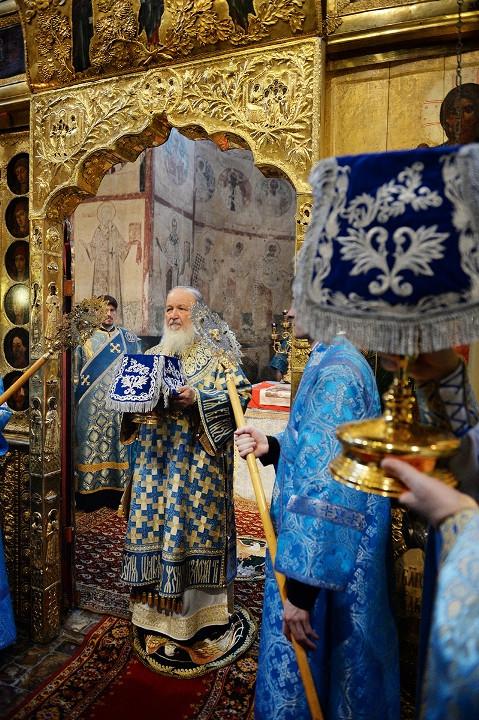 В Благовещенском соборе Московского Кремля