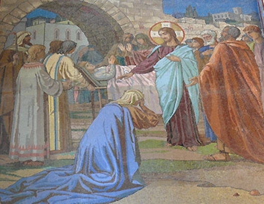 Воскрешение сына наинской вдовы. Фреска