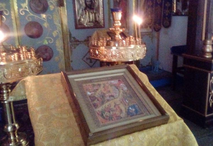 Икона Воскресения на аналое
