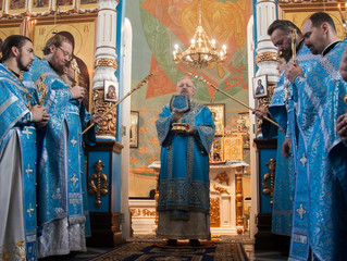 Глава Красноярской митрополии возглавил Литургию престольного праздника в Сосновоборске