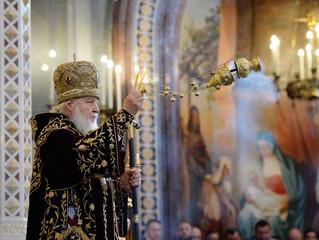 Поздравление Святейшему Патриарху Кириллу от Священного Синода Русской Православной Церкви по случаю