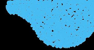Синий Curl шаблон