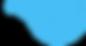 Motif bleu Curl