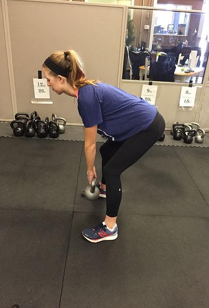 Kettlebell training at Master's Fitness