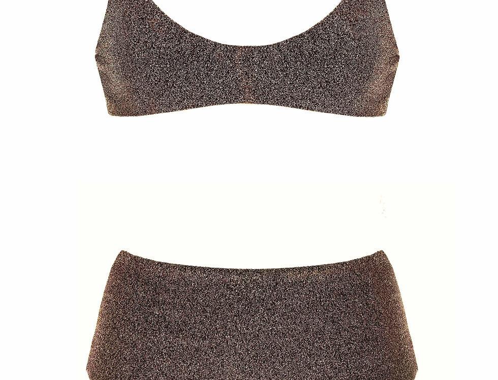 Bronze Lurex Bikini