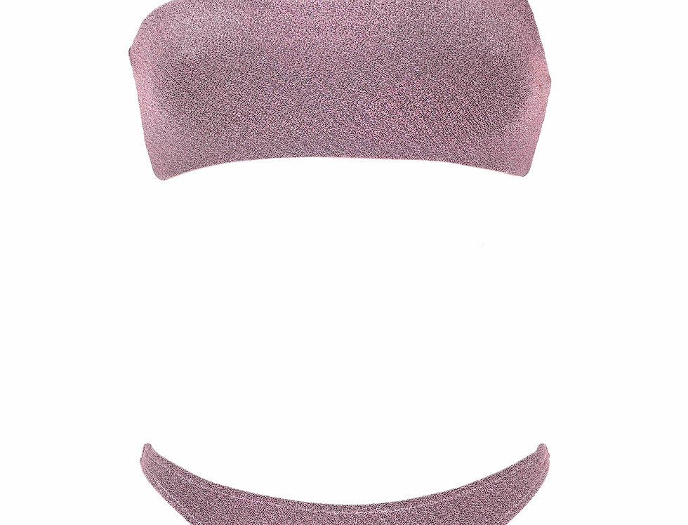 Flamingo Pink Lurex One Strap Bikini