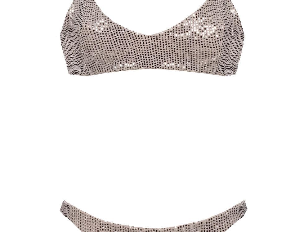 Bronze Sequins Low Rise Bikini