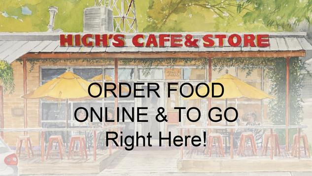 High's Cafe Online Orders / Comfort, TX