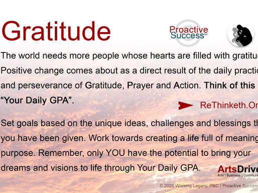 Gratitude, Prayer and Action - What's Your GPA?