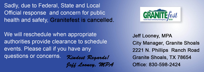 GraniteFest Has Been Canceled