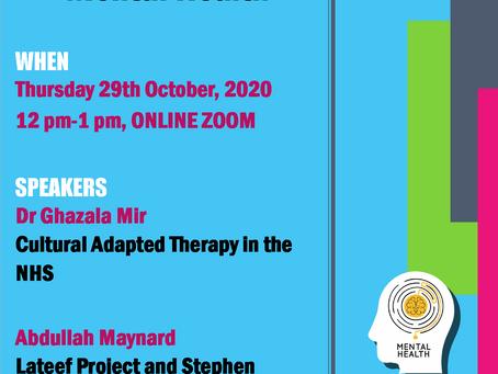 2020 Webinar - Intersectionality of BAME, FAITH & MENTAL HEALTH