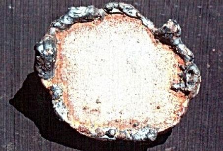 Plate of Brass artifact tracing tool real artifact Hanff assay Larkspur Greenbrae