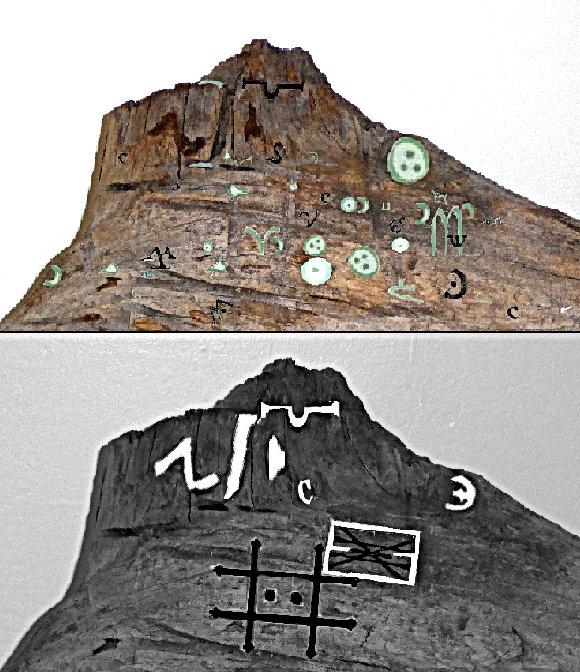 Alchemy symbols 16th Century Sirt Francis Drake artifact Great Poste Plate of brass