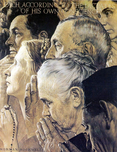 Norman-Rockwell-Freedom-to-Worship-1943.