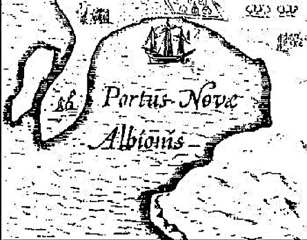 Hondius Treasure Map Noval Albion