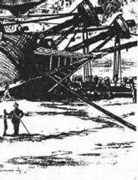 San Francisco Bay Sir Francis Drake boat repairs historical sketch