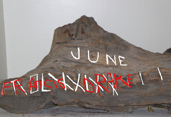 Francis Drake artifact Great Poste San QUentin Landing site Plate of Brass