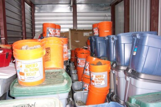Storage unit filled with treasure