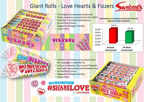 Swizzels Fizzers & Love Heart Rolls