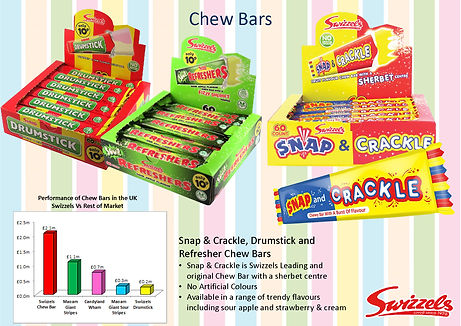 Swizzels Snap N Crack & Refresher Chew Bars