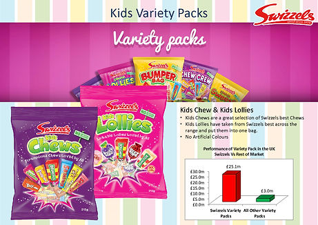 Swizzels Kids Variety Lollie Bags
