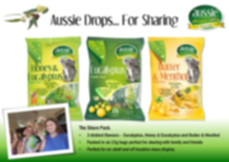 Aussie Drops 150g Share Pack