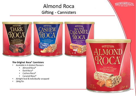 Almond Roca Origial Cannisters