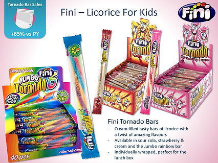 Fini Tornado Bars - Cola, Strawberry & Jumbo Rainbow
