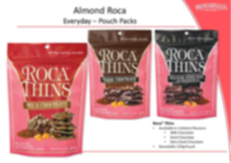 Roca Thins - Milk, Dark, Extra Dark