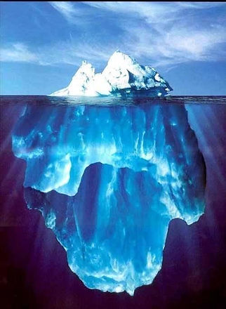 Iceberg depicting the conscious and subconscious mind