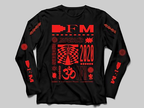 Camiseta DFM (vermelha/manga longa)