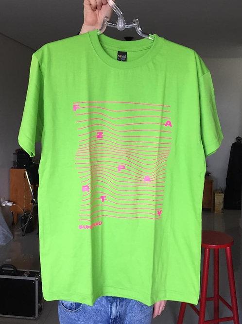 Camiseta Faz Party (verde limão/rosa)