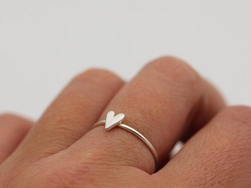 Anello cuore mini in argento 925