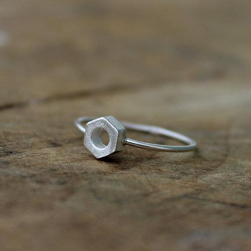 Anello bullone in argento 925