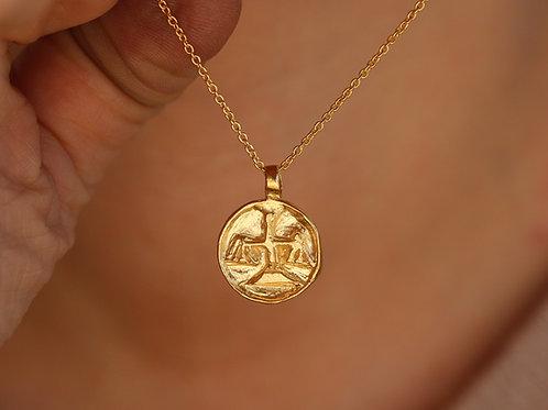 Collana segno zodiacale della bilancia in argento 925
