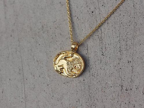 Collana segno zodiacale del leone in argento 925