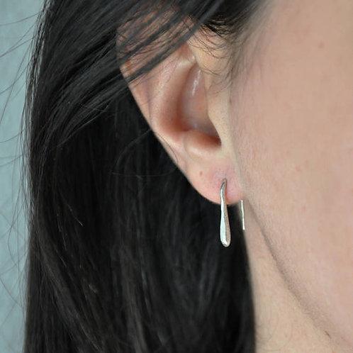 Orecchini pendenti minimal in argento 925