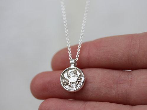 Collana segno zodiacale del cancro in argento 925