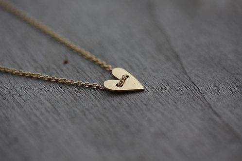 Collana cuore passante in argento 925