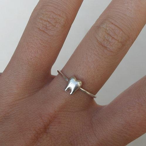 Anello dente in argento 925