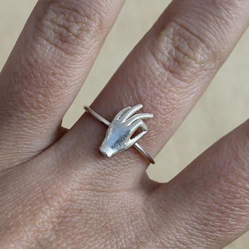 Anello mano OK argento 925