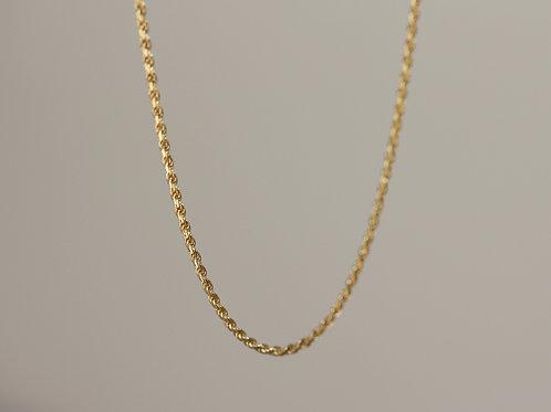 Collana a corda in argento 925