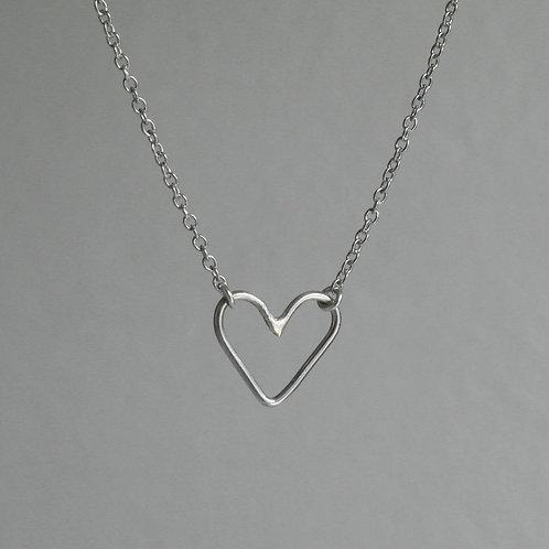 Collana cuore vuoto in argento 925