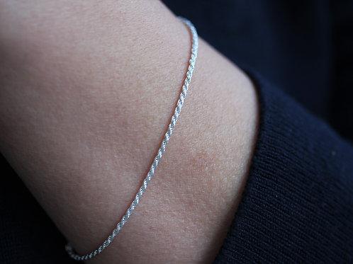 Bracciale a corda in argento 925